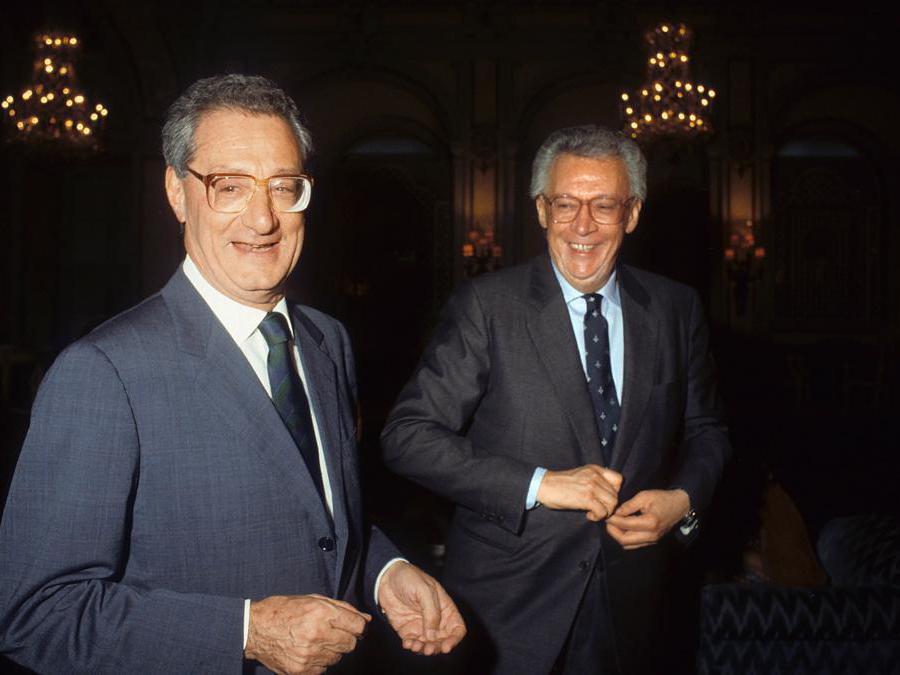 2003. Cesare Romiti e Giampaolo Pansa (Imagoeconomica)