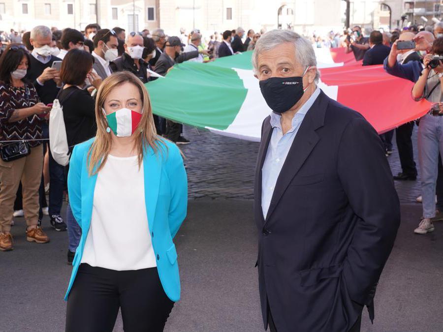 Giorgia Meloni  e Antonio Tajani (Foto di Livio Anticoli)