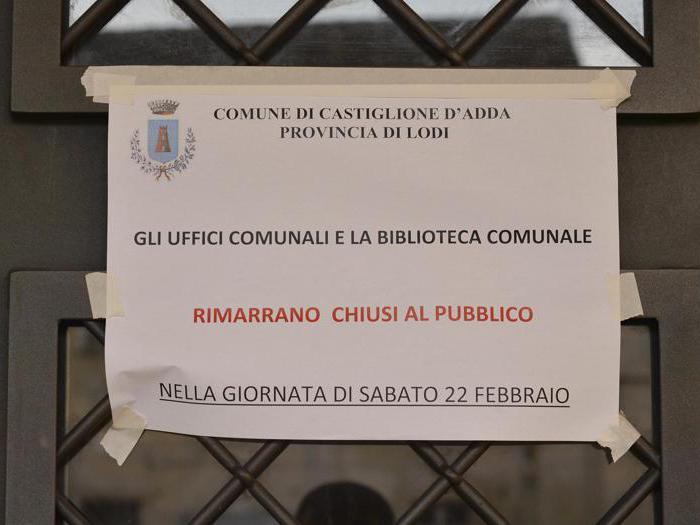 Castiglione e Codogno chiusi per Coronavirus