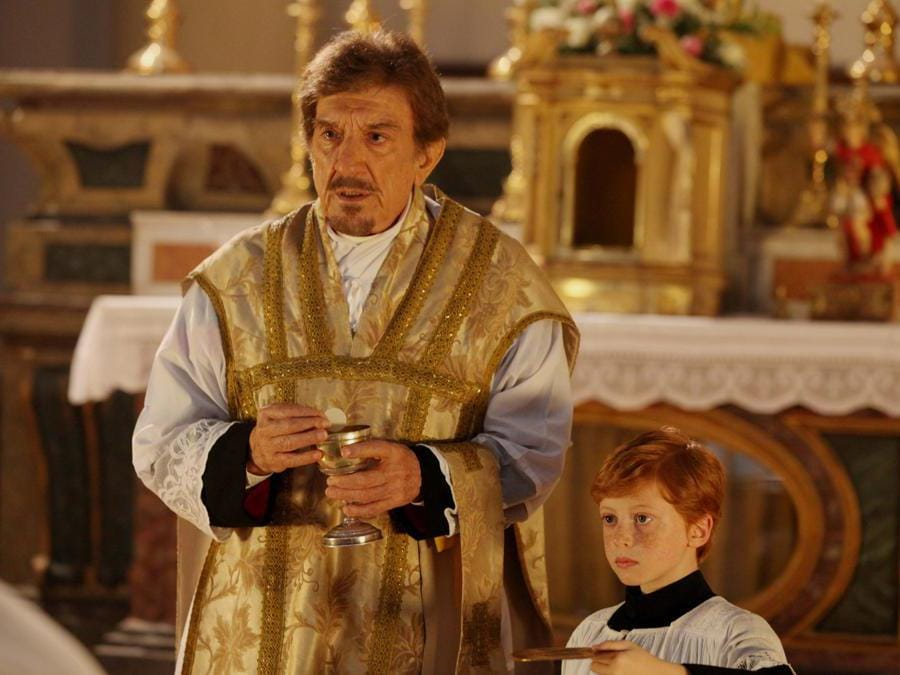04/04/2013 Roma , Foto di scena della fiction : L'Ultimo Papa Re - nella foto Gigi Proietti (Foto IPP)