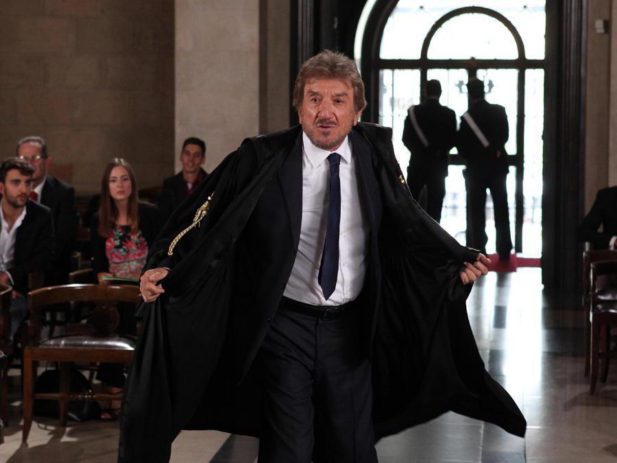 Immagini di scena del film 'ma tu...di che segno 6' (2014) nella foto Gigi Proietti (Foto IPP/Gioia Botteghi)