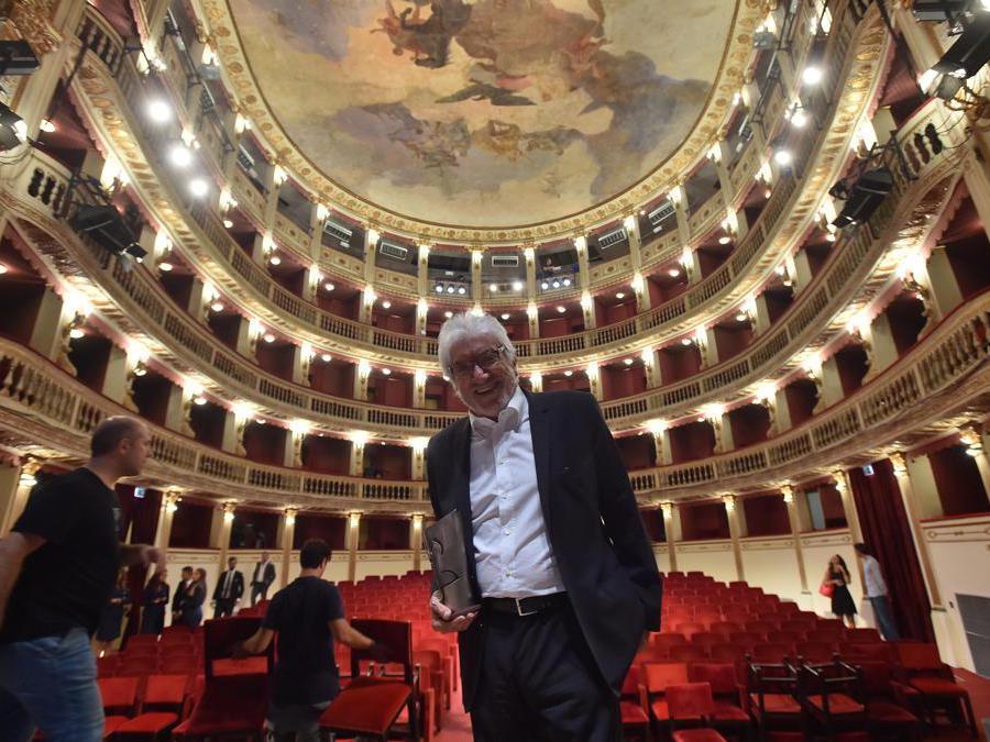 Napoli 07/09/2018 Teatro Al Teatro Mercadante consegna del Premio Le Maschere del Teatro Italiano 2018 Nella foto: Gigi Proietti (Foto IPP/Felice De Martino)