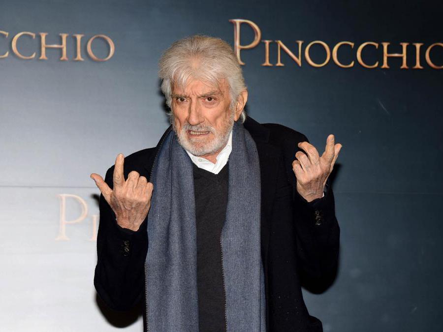 Roma 12/12/2019 presentazione del film Pinocchio nella foto Gigi Proietti (Foto IPP/Felice De Martino)