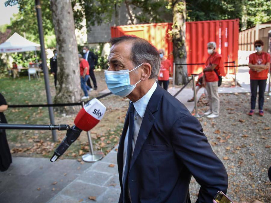 Giuseppe Sala alla camera ardente per Gino Strada nella sede di Emergency ANSA/MATTEO CORNER