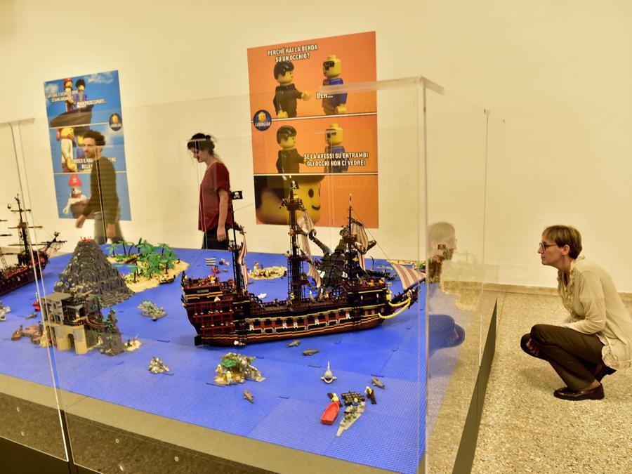 Apertura della Mostra «I Love Lego» alla Permanente di Milano di Via Turati (Duilio Piaggesi/Fotogramma)