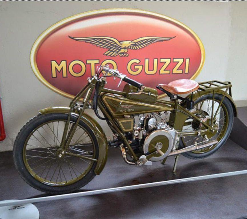 1921. Moto Guzzi. Casa motociclistica fondata da tre aviatori