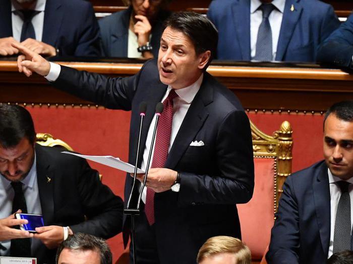 Il discorso di Conte e le reazioni di Salvini