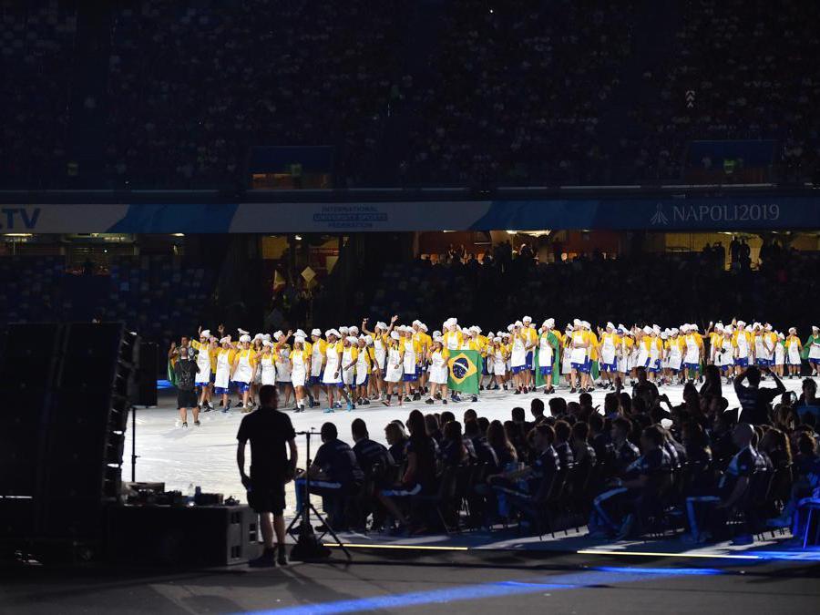 Gli atleti della delegazione del Brasile (Italy Photo Press)