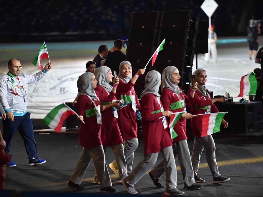 Gli atleti della delegazione dell'Iran (Italy Photo Press)