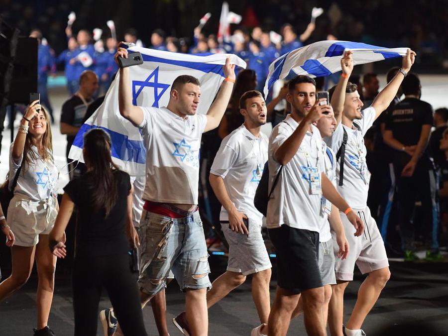 Gli atleti della delegazione di Israele (Italy Photo Press)