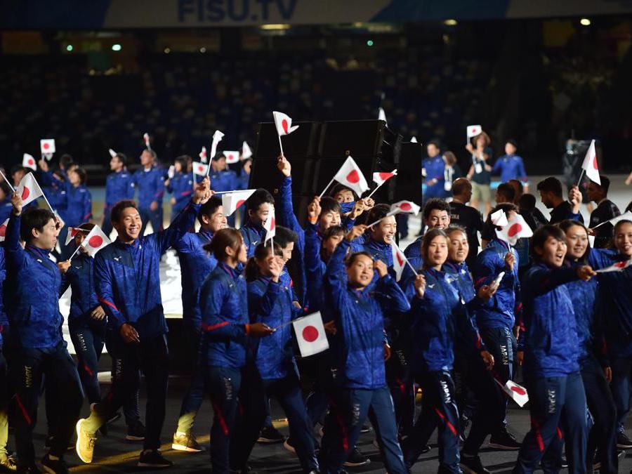 Gli atleti della delegazione del Giappone (Italy Photo Press)