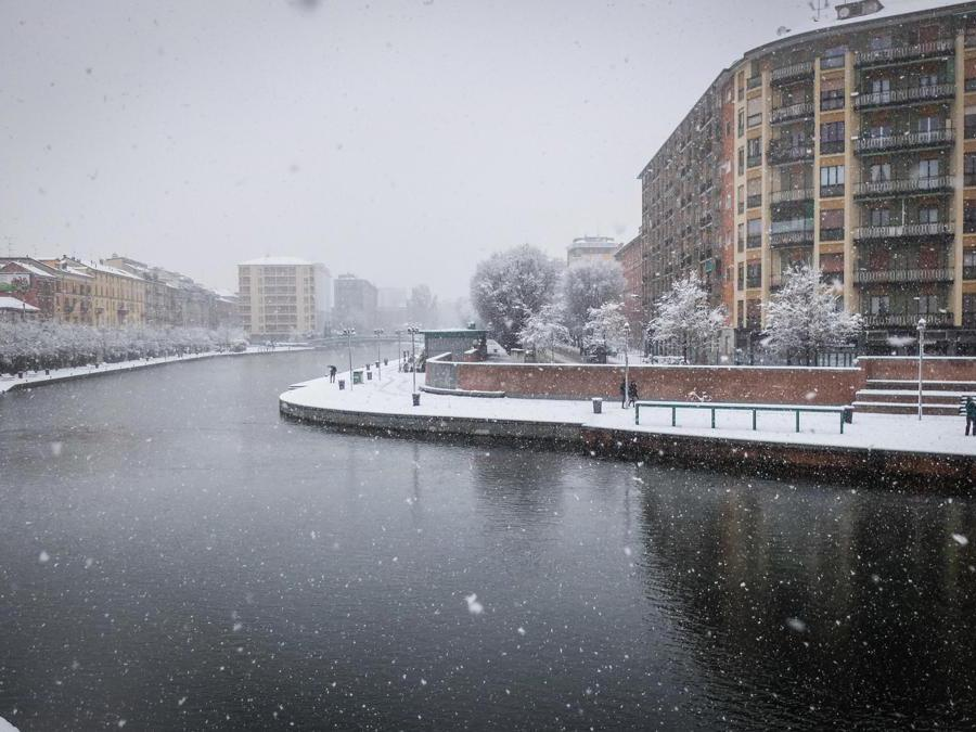 Milano, 28 dicembre 2020. (Ansa / Matteo Corner)