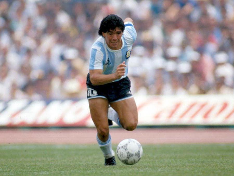 Diego Armando Maradona con la Nazionale Argentina ai Mondiali di Calcio nel 1986 (Norbert Schmidt/Foto IPP)