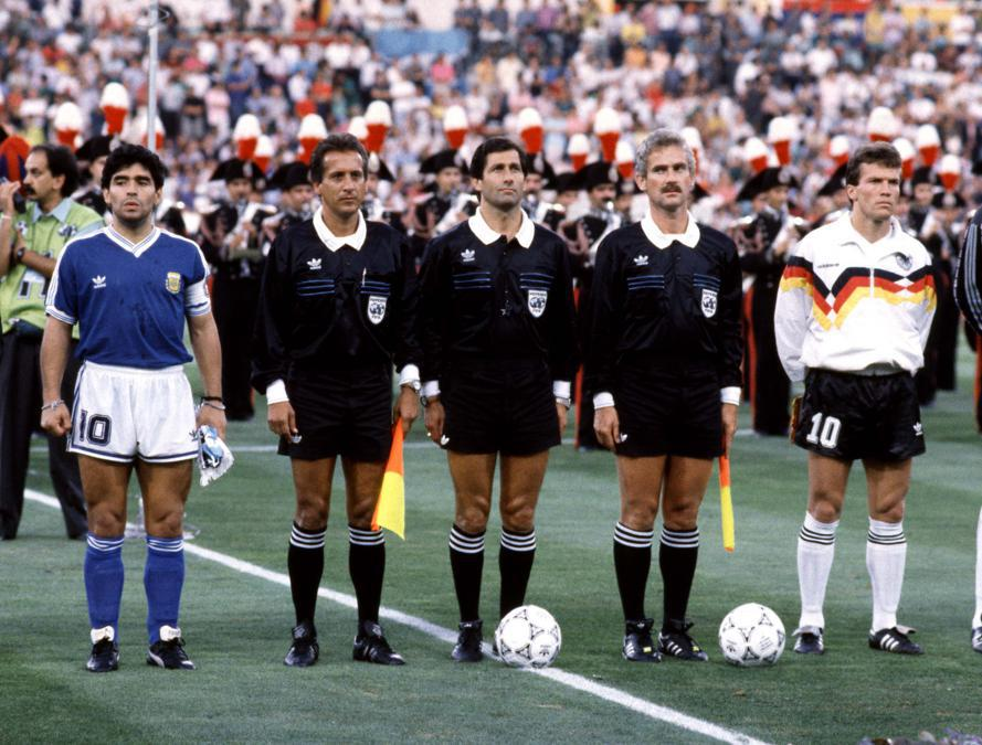 Diego Armando Maradona ai Mondiali di Calcio- Roma  1990 ( Mark Leech/Ipp)