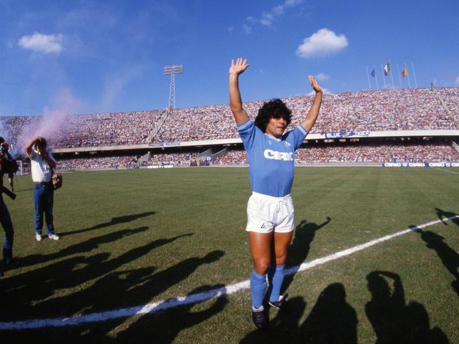 Il debutto di Diego Armando Mardona con la maglia del Napoli 1984 (Alain de Martignac/Ipp)