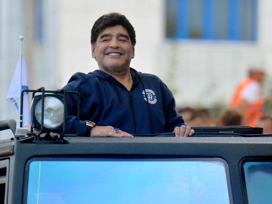 Diego Armando Maradona durante la presentazione come nuovo presidente della società Dynamo Briest  - 2019(Viktor Tolochko/Ipp)