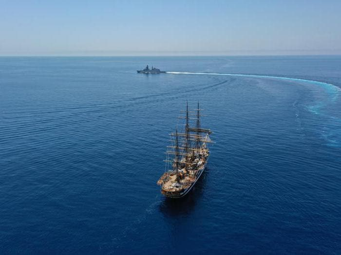 Marina Militare: la nave scuola Amerigo Vespucci fa tappa a Siracusa per la campagna d'istruzione degli allievi ufficiali
