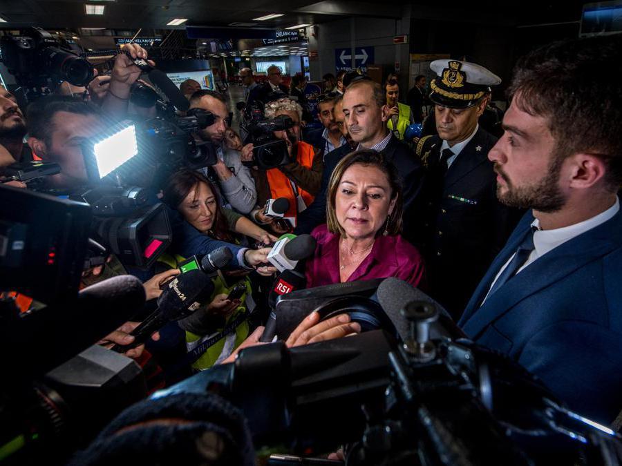Nella foto Paola de Micheli ministro infrastrutture e trasporti (Carlo Cozzoli/Fotogramma)