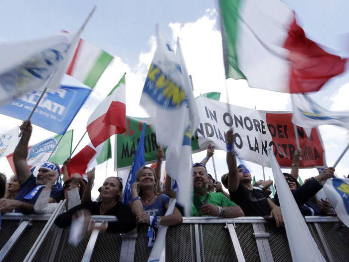 Roma, centro-destra in piazza contro il governo M5S-Pd