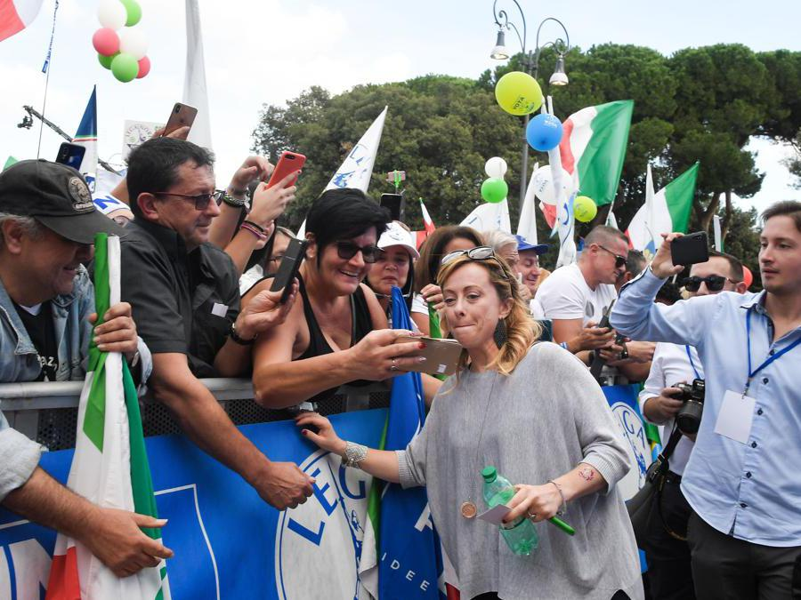 Giorgia Meloni  (Photo by Tiziana FABI / AFP)