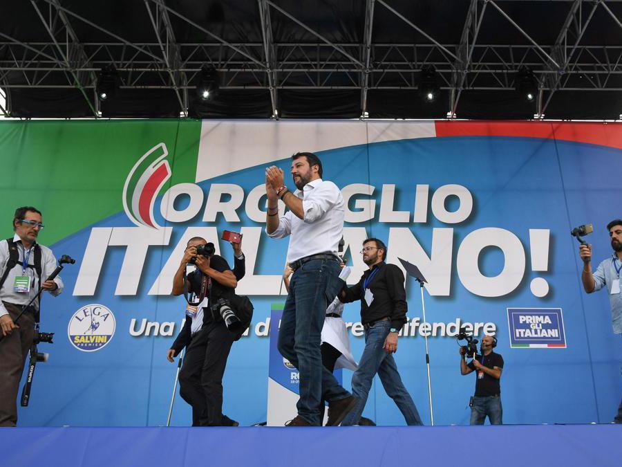 Matteo Salvini. (Ansa/Alessandro Di Meo)