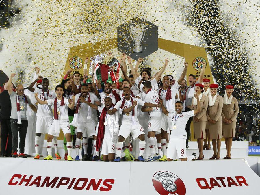 FEBBRAIO. CALCIO. La nazionale di calcio del Qatar conquista il primo titolo continentale della sua storia. Sconfitto, nella finale della coppa d'Asia, il Giappone con il risultato finale di 3-1. (Afp
