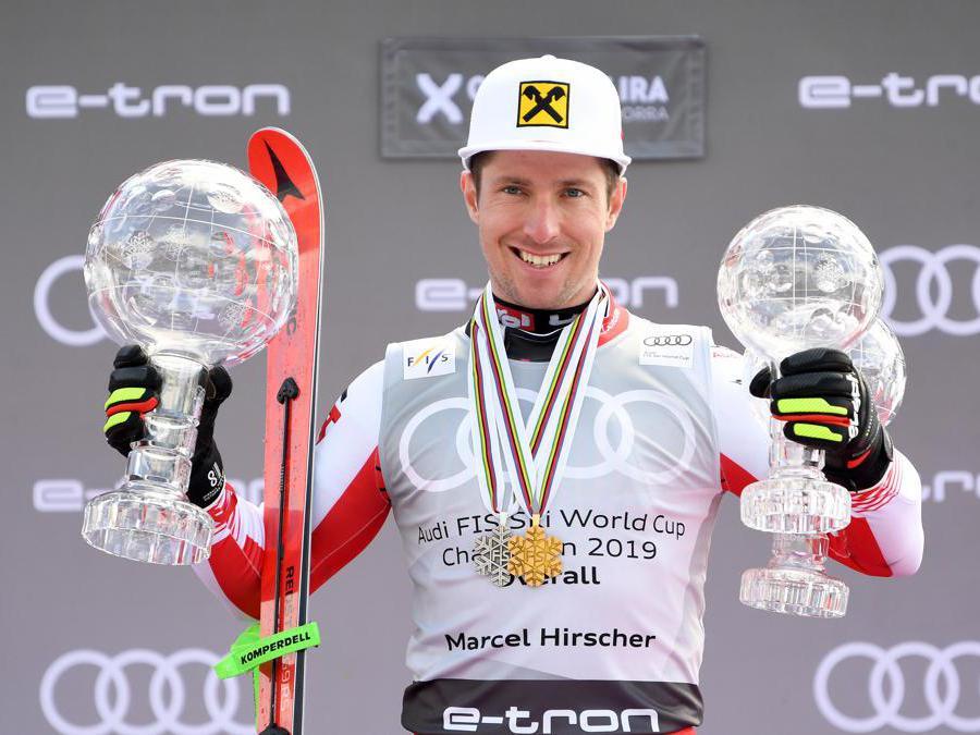 MARZO. SCI ALPINO. Il Re delle nevi, Marcel Hirscher, chiude l'anno agonistico e la carriera conquistando, dopo l'oro nello slalom e l'argento nel gigante ai mondiali di Are, l'ottava coppa del mondo generale consecutiva e le due coppe di specialità. Il campione austriaco lascia il circo bianco,collezionando 8 coppe del mondo generali e 12 di specialita, tre medaglie olimpiche e 11 titoli iridati. (Afp)
