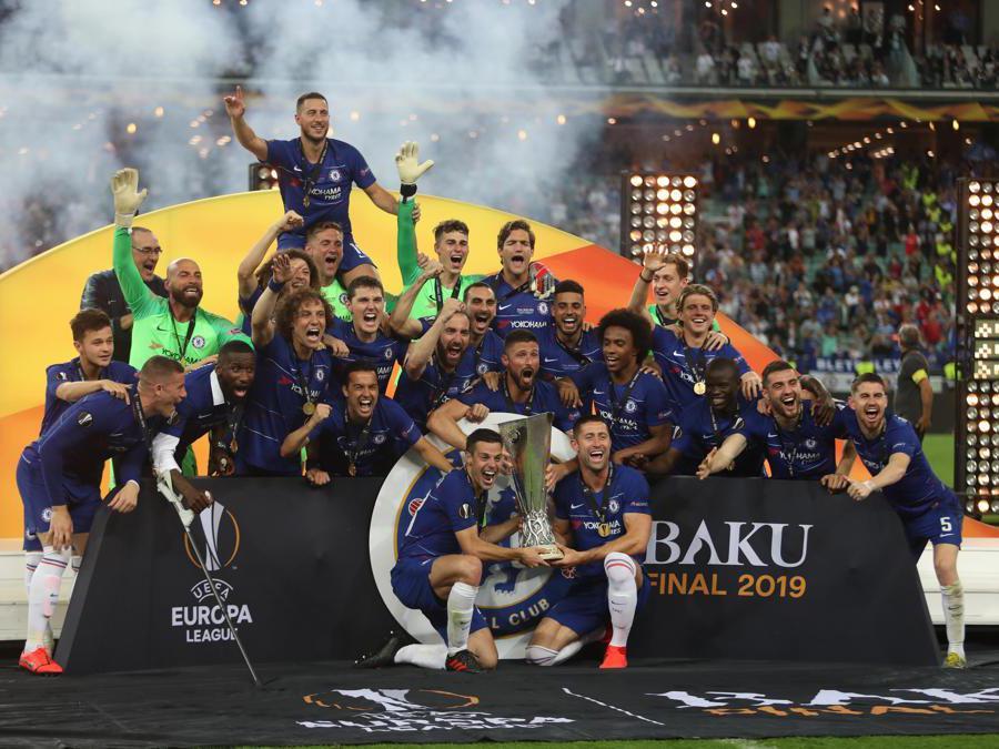 MAGGIO. CALCIO. Il Chelsea, conquista l'Europa League per la seconda volta nella storia del club. Sconfitto nella finale di Baku l'Arsenal per 4-1. Primo trofeo internazionale in carriera per il tecnico italiano Maurizio Sarri. (Afp)