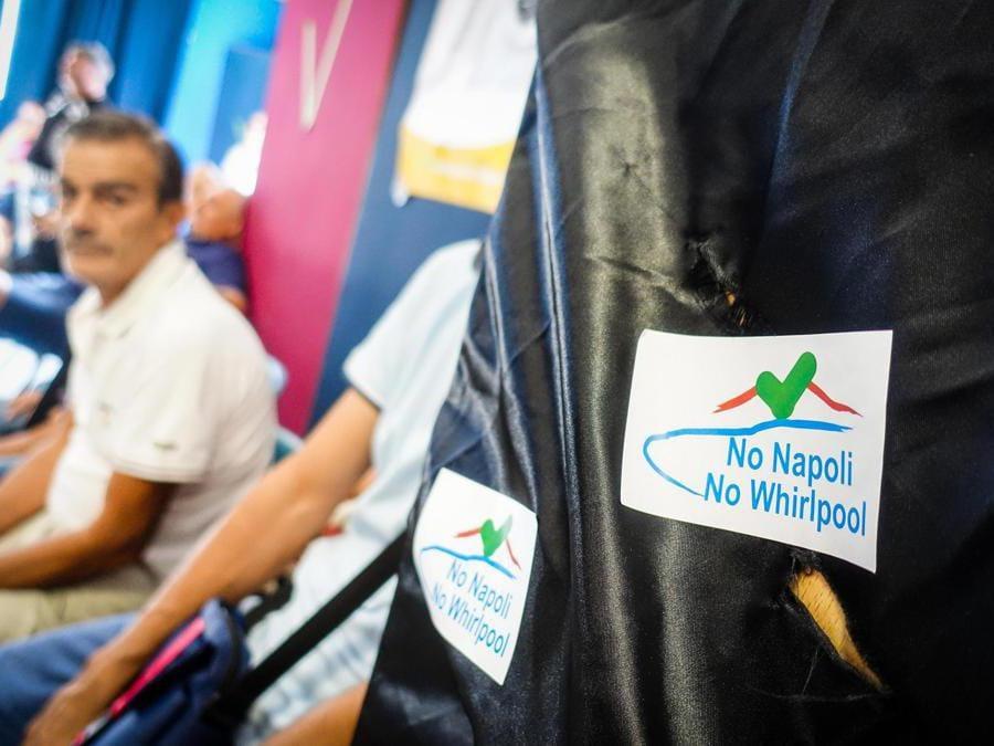Assemblea lavoratori Whirlpool in fabbrica. Napoli 18 Settembre 2019 - ANSA/CESARE ABBATE/