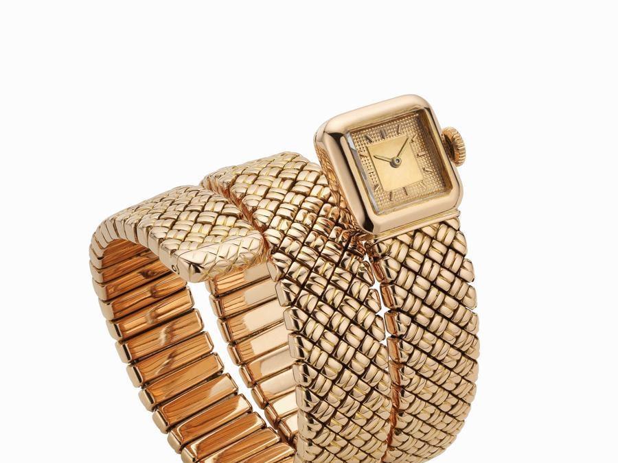 Orologio Serpenti Bvlgari in oro rosa 1957 Collezione Privata