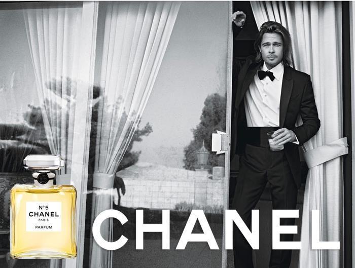 Brad Pitt testimonial di Chanel N°5