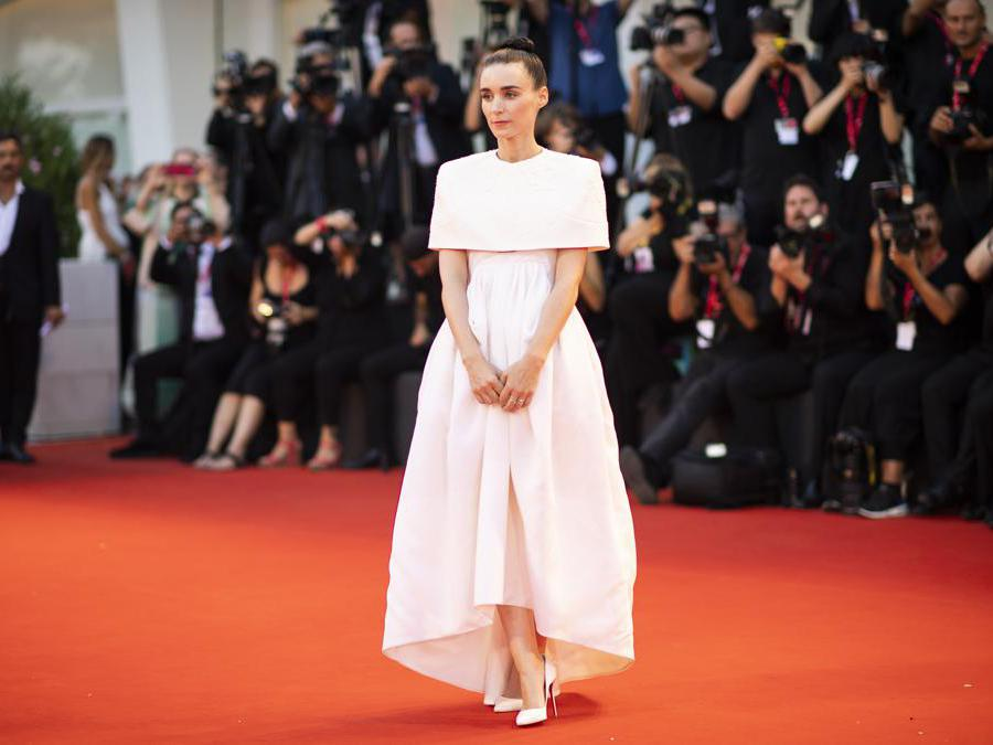 Rooney Mara in Givenchy Haute Couture (Photo by Arthur Mola/Invision/AP)