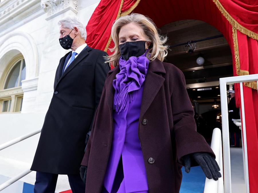 Bill Clinton e sua moglie   Hillary Clinton  (Epa/Jonathan Ernst)