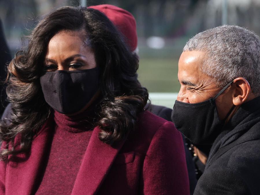 Michelle Obama: anche per l'ex First Lady un outfit firmato da Sergio Hudson (Afp/Jonathan Ernst )