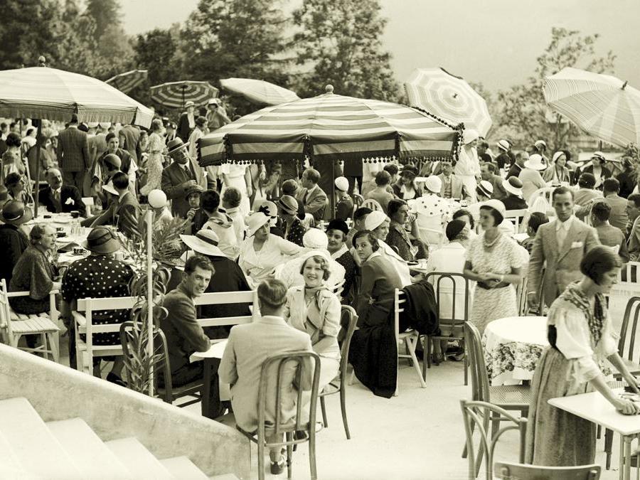 Foto storica della terrazza del Cristallo