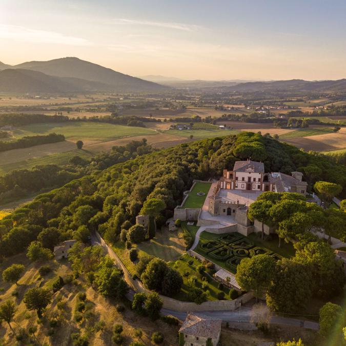 Castello di Solfagnano preso dall'alto