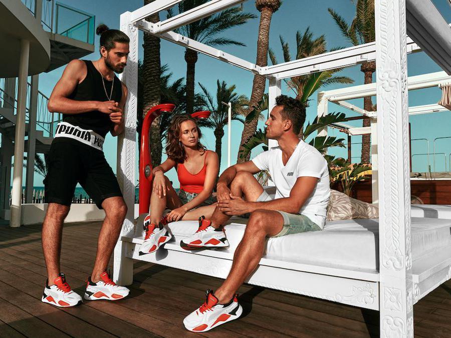 Le sneaker Puma RS-X Ushuaïa realizzate per Ushuaia Beach Hotel Ibiza