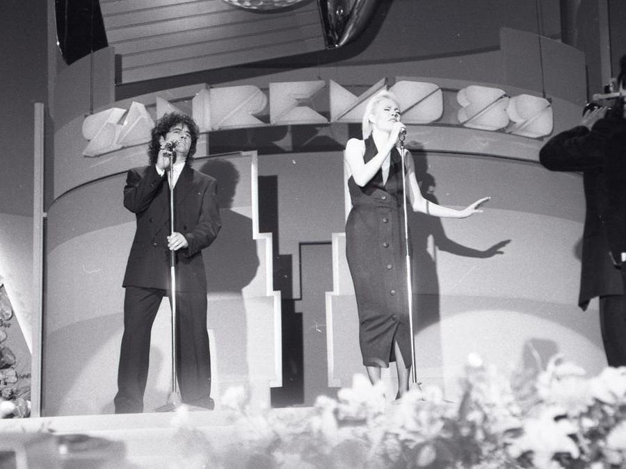 1989. Fausto Leali con Anna Oxa