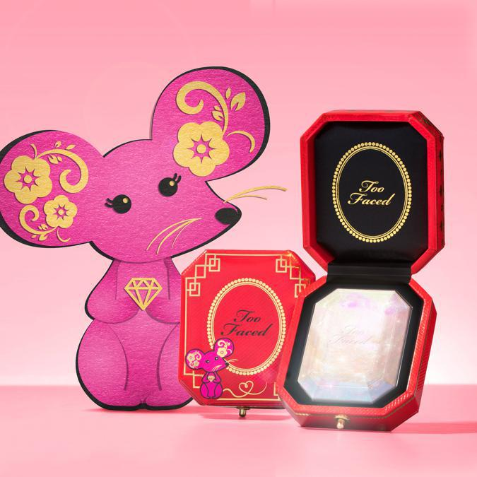 Too Faced Chinese New Year Edition Diamond Highlighter, illuminante in polvere dall'effetto glow radioso