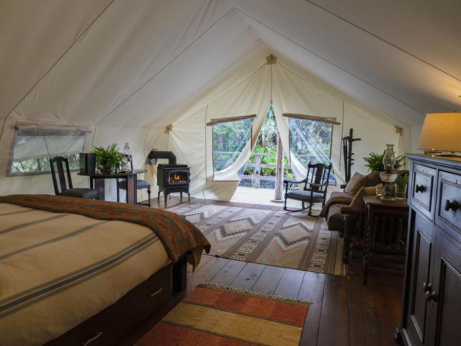 Clayoquot Wilderness Resort. Una delle tende