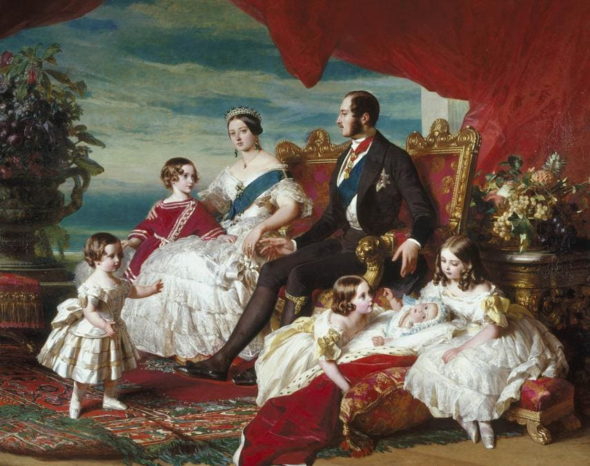 Franz Xaver Winterhalter, La famiglia reale nel  1846, 1846. (credit Royal Collection Trust - Her Majesty Queen Elizabeth II 2019)