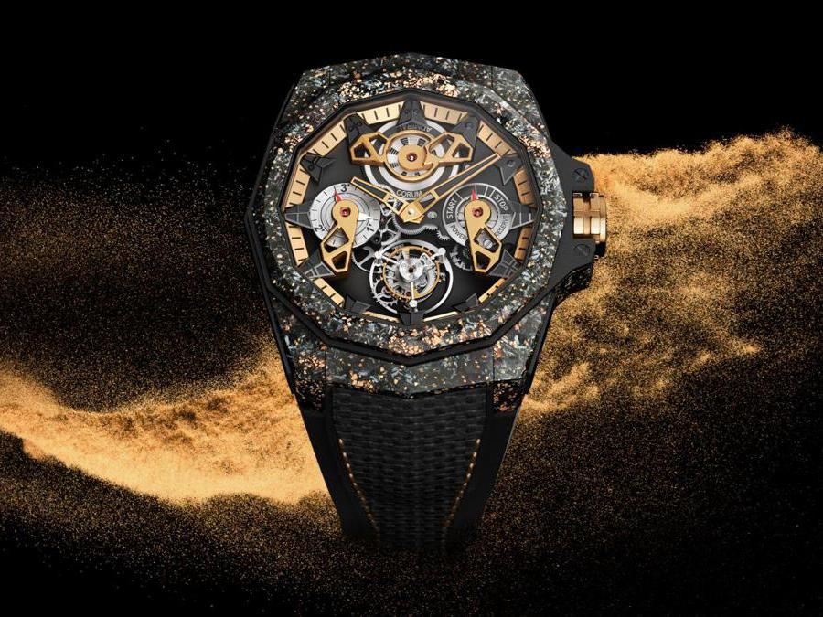 Corum - Admiral 45 Automatic Openworked Flying Tourbillon Carbon & Gold