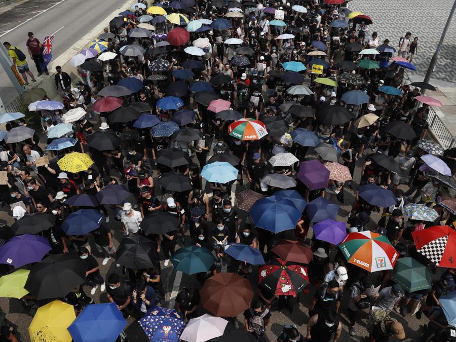 Marcia di protesta a Hong Kong, 24 agosto  2019 (Epa)