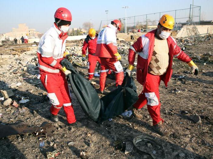 Boeing, le immagini del disastro in Iran