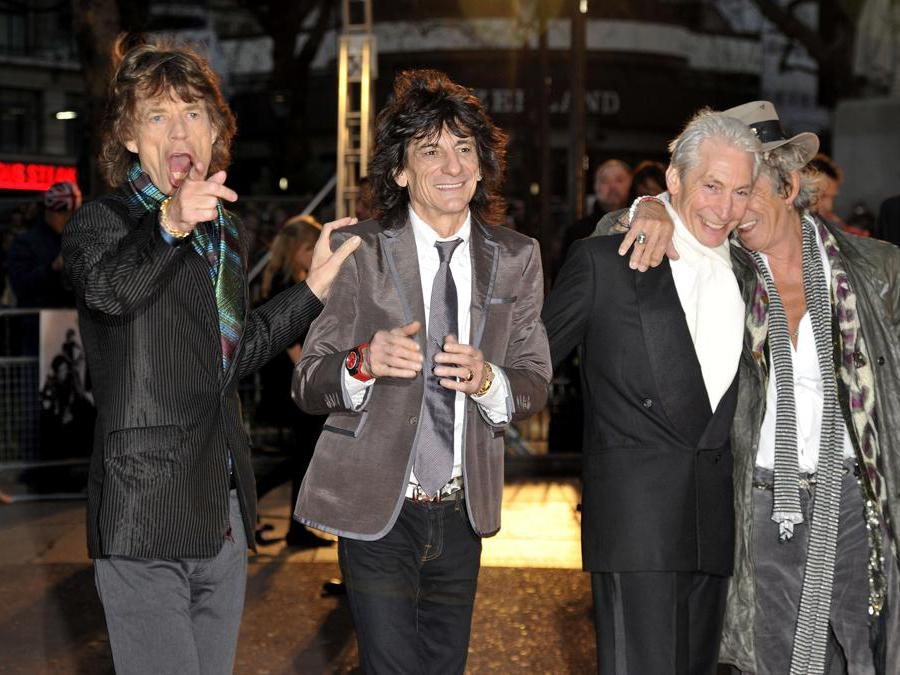 Il gruppo dei Rolling Stonese: Mick Jagger, Ronnie Wood, Charlie Watts e Keith Richards (Ipp)