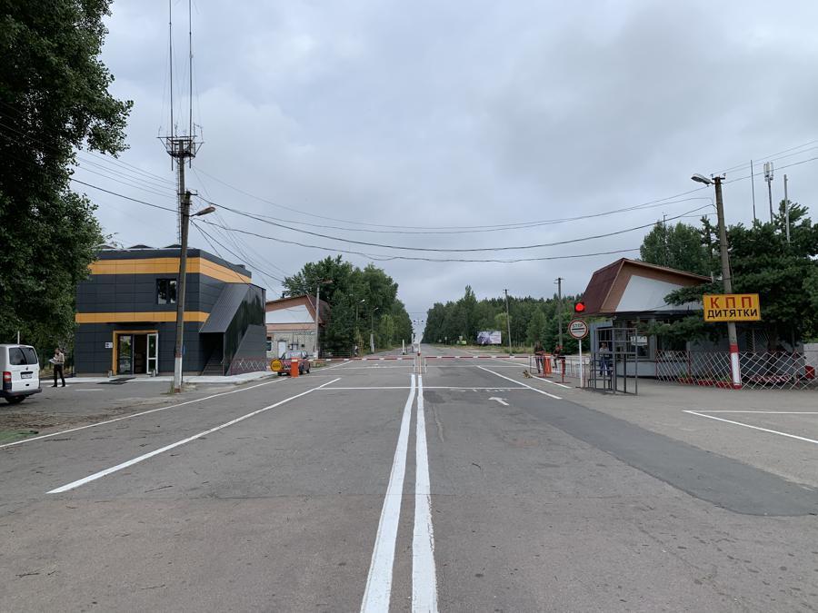 Il primo checkpoint all'ingresso della Zona di esclusione