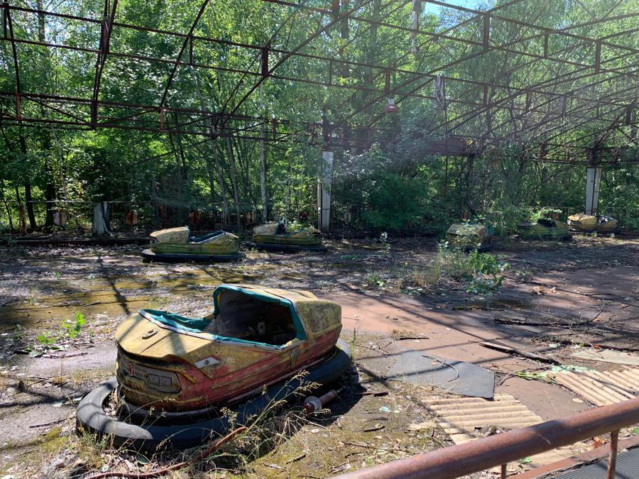 L'autoscontro del parco divertimenti di Pripyat