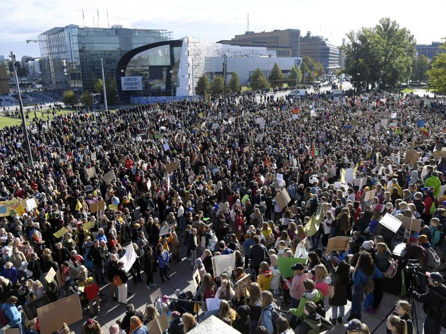 Helsinki, Finlandia,  27 settembre 2019. (Markku Ulander/Lehtikuva via AP)