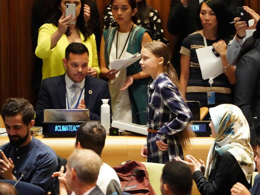 New York City.  Youth Climate Summit. Greta Thunberg (Reuters)