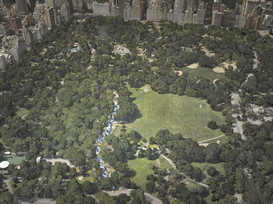 Breathe with Me, Central Park, New York City  (visualization by Studio Jeppe Hein - courtesy Jeppe Hein e ART2030)